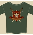 Knight or warrior theme tee shirt template vector image