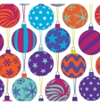 christmas balls seamless pattern vector image