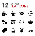 12 shop icons vector image vector image