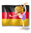 A ballet dancer in front of the flag of Germany vector image vector image