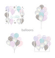 balloons set with glitter birthday and holidays vector image