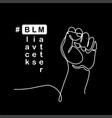 black lives matter poster banner with fist vector image