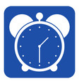 blue white information sign - alarm clock icon vector image vector image