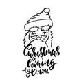 christmas calligraphy handwritten modern vector image vector image