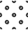 coin yen pattern seamless black vector image vector image
