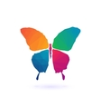 Colorful Polygonal Mosaic butterfly vector image vector image