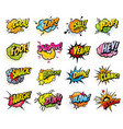 comics speech bubbles and sound blast icons vector image