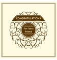 Congratulation for best friend Stylish vector image vector image