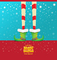 creative merry christmas greeting card with vector image vector image