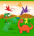 cute dinosaurs cartoon eps10 file vector image