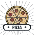 delicious pizza isolated icon design vector image