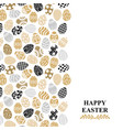 easter decorative eggs card vector image