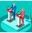 Election Infographic Political Rally Isometric vector image vector image