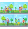 family parenting parents set vector image vector image