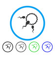 fertilization rounded icon vector image