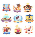 field events labels collection vector image vector image
