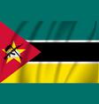 flag mozambique realistic waving vector image vector image