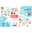 flat science infographic template vector image vector image