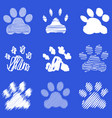 footprints of dog paws vector image