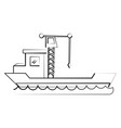 freigther ship boat vector image vector image