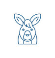 funny hare line icon concept funny hare flat vector image vector image