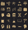 grants icons set simple style vector image vector image