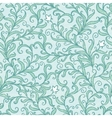 green floral swirls seamless pattern vector image