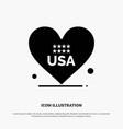 heart love american usa solid glyph icon vector image vector image