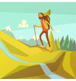 Hiking And Mountaineering vector image