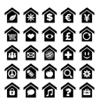 Home Icons with Symbols vector image vector image