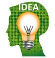 Idea mind bulb vector image vector image