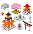 isometric japan cartoon 3d vector image vector image