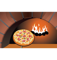 italian pizza vector image vector image