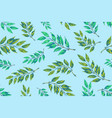 laurel twigs seamless patern vector image