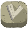 letter v carved from stone vector image