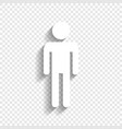 man sign white icon with vector image vector image