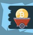 mining cryptocoins design vector image