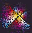 Modern colorful pattern with color square Dynamic vector image vector image