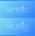 music word logo or symbol in line style vector image vector image