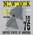 nyc new york stock t-shirt design print design vector image vector image