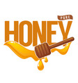 pure honey symbol logo label emblem honey vector image vector image