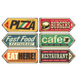 retro signs collection vector image vector image