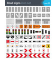 road signs road markings cycleway traffic vector image vector image