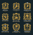 royal heraldry heraldic lion and horse animals vector image vector image