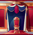 royal throne in medieval castle cartoon vector image vector image