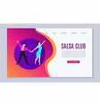 salsa dancers club or dance school web vector image