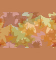 seamless pattern abstract autumn leaves vector image vector image