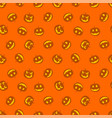 seamless pattern of pumpkins happy haloween vector image