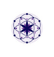 seed life symbol sacred geometry logo icon vector image vector image