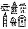 set with houses vector image vector image